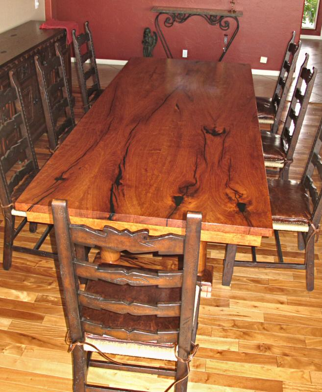 4 x 10  mesquite tableCurrent Work   WGH Woodworking 2010 2011. Mesquite Dining Room Tables. Home Design Ideas