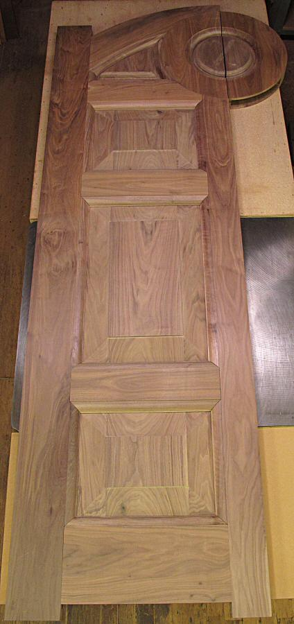 10' walnut door with carving