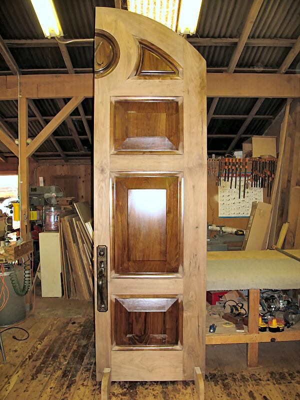 assemble 10' high walnut door