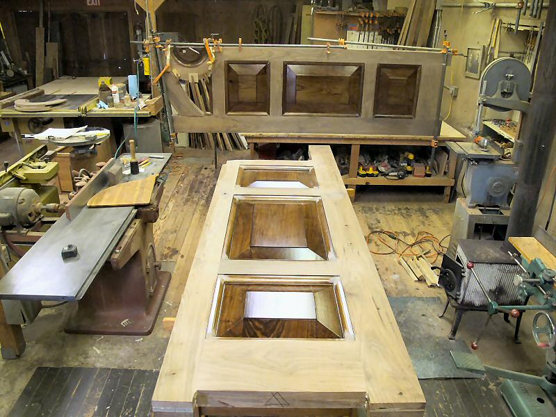 walnut door glue-up