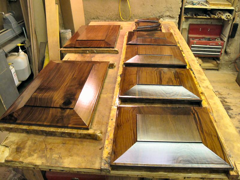 pre-finished walnut raised panels