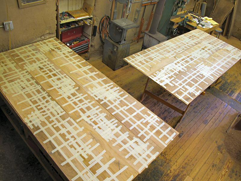taped mesquite veneer sheets