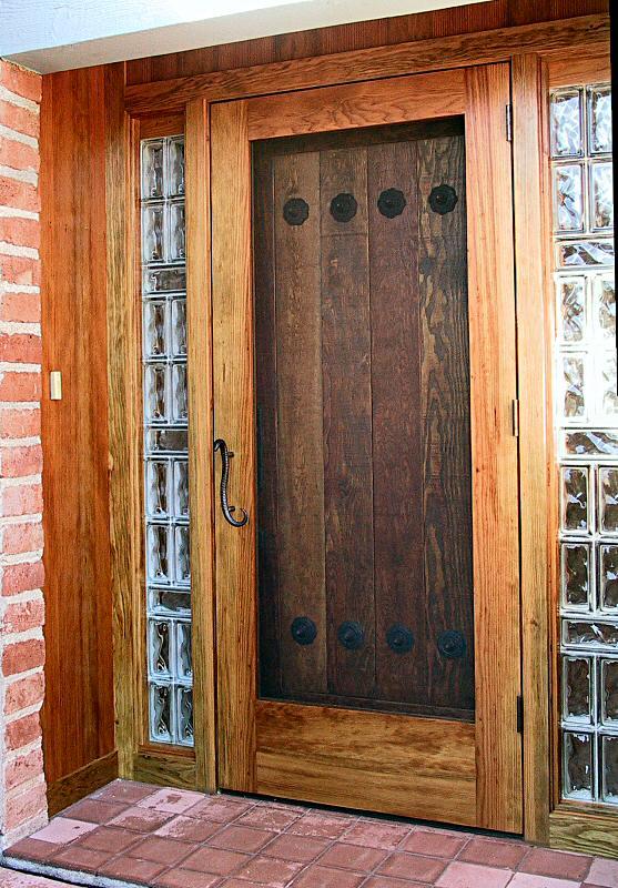 Rustic Door With Screen Wgh Woodworking
