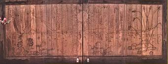 Carved garage doors