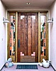Rustic Fir Doors with Copper