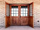 Rustic doors with security grills