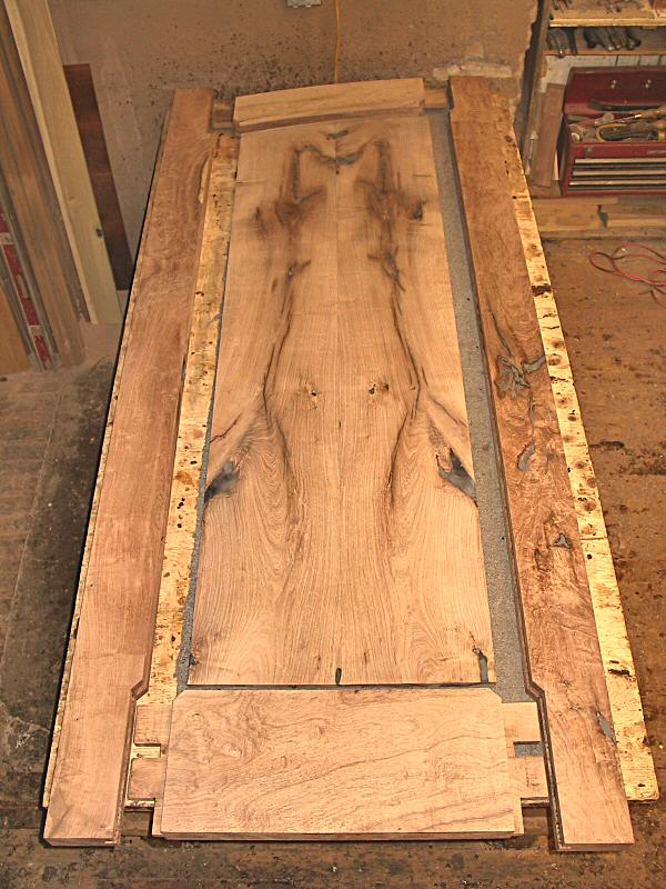 mesquite door - exploded view & Arched Mesquite Entry Doors in Ebonized Mahogany Jamb - WGH ... pezcame.com
