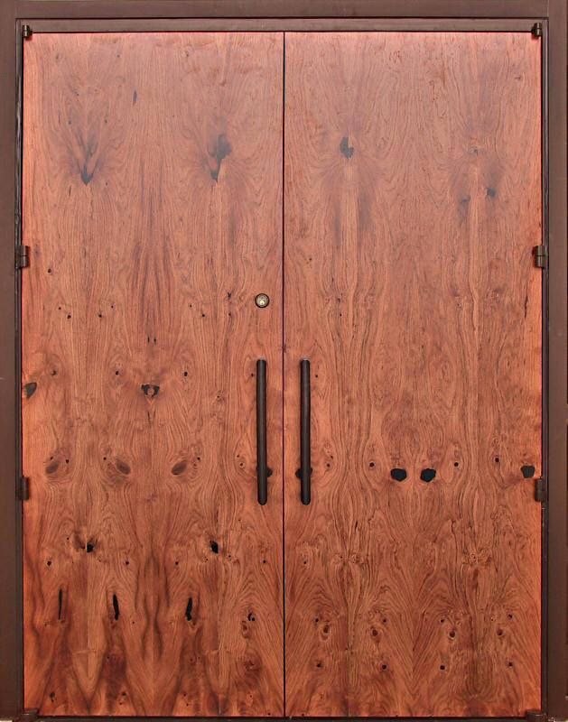 Mesquite Veneered Door & Casas Barrier Chapel Mesquite Doors - WGH Woodworking