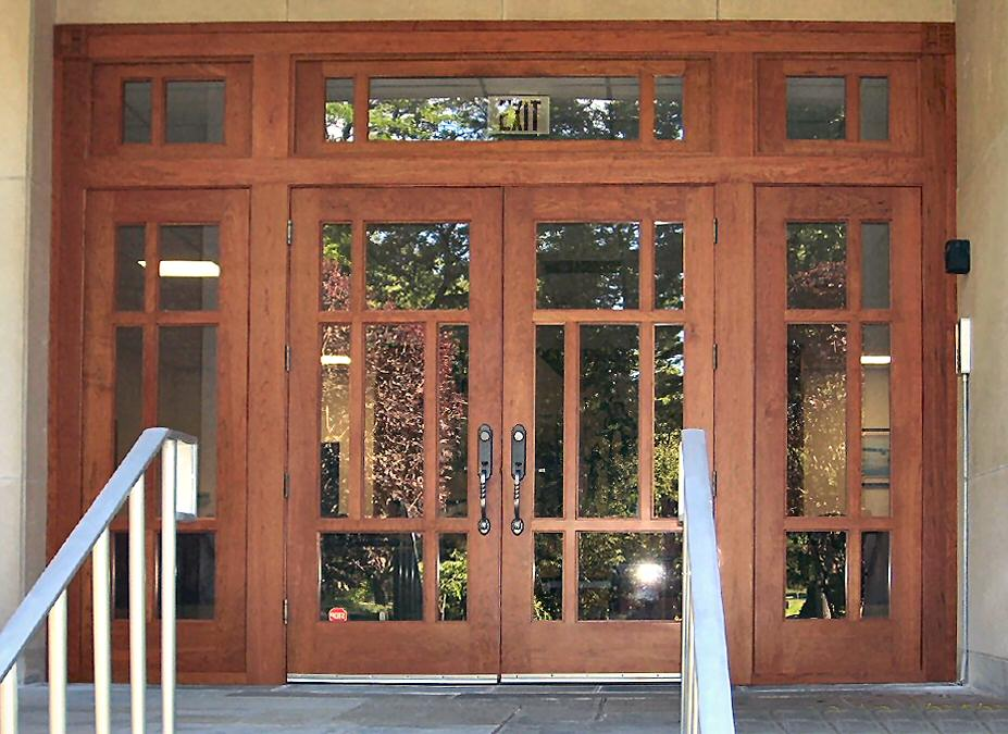Craftsman style church doors wgh woodworking for Entrance double door designs for houses