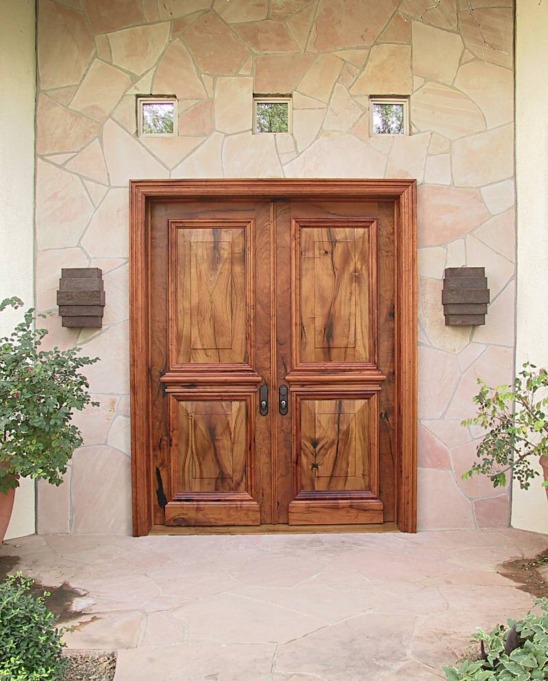 Elegant mesquite entry doors wgh woodworking for Doors for front door