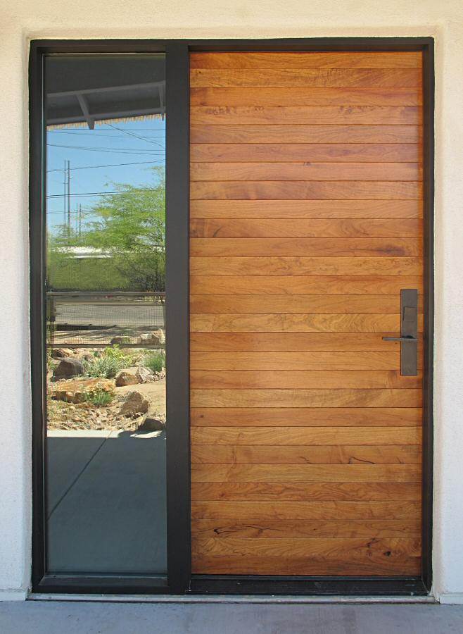 Contemporary Mesquite Entry Door