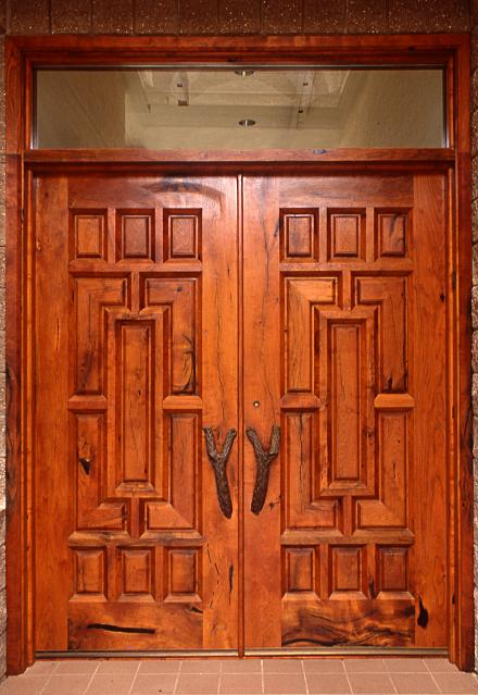 Mesquite double doors in a traditional Mexican design & Mexican Style Mesquite Doors - WGH Woodworking