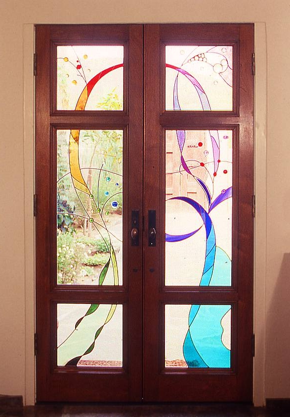 Stained Glass Old World Style Doors Wgh Woodworking